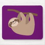 Cute Three-Toed Sloth Mouse Pad