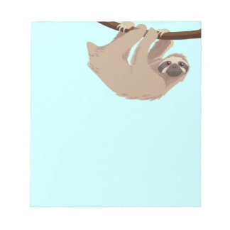 Cute Three Toed Sloth Notepad