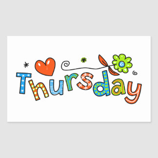 Cute Thursday Week Day Greeting Text Expression Sticker