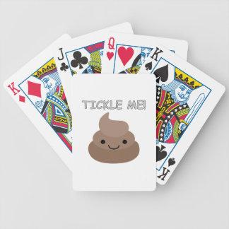 Cute Tickle Me Poop Emoji Bicycle Playing Cards