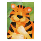 Cute Tiger art kids Birthday Card