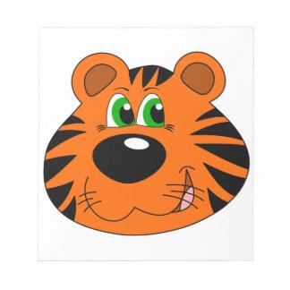 Cute Tiger Cartoon head Notepads