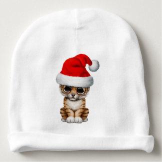 Cute Tiger Cub Wearing a Santa Hat Baby Beanie