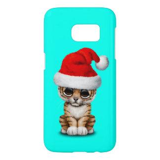 Cute Tiger Cub Wearing a Santa Hat Samsung Galaxy S7 Case