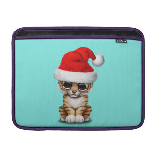 Cute Tiger Cub Wearing a Santa Hat Sleeve For MacBook Air