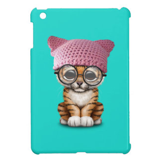 Cute Tiger Cub Wearing Pussy Hat Case For The iPad Mini