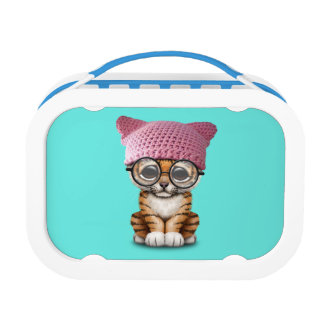 Cute Tiger Cub Wearing Pussy Hat Lunch Box