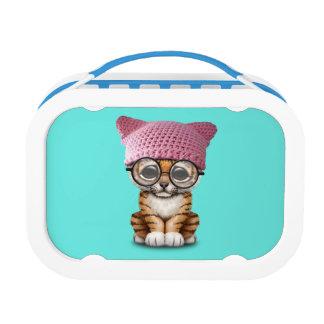 Cute Tiger Cub Wearing Pussy Hat Lunchbox