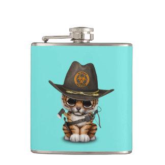 Cute Tiger Cub Zombie Hunter Hip Flask