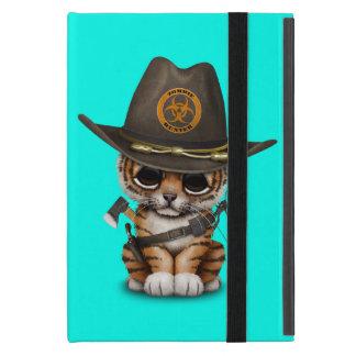 Cute Tiger Cub Zombie Hunter iPad Mini Case