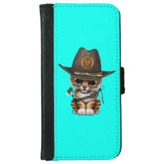 Cute Tiger Cub Zombie Hunter iPhone 6 Wallet Case