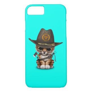 Cute Tiger Cub Zombie Hunter iPhone 8/7 Case