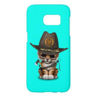 Cute Tiger Cub Zombie Hunter Samsung Galaxy S7 Case