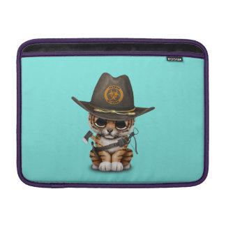 Cute Tiger Cub Zombie Hunter Sleeve For MacBook Air