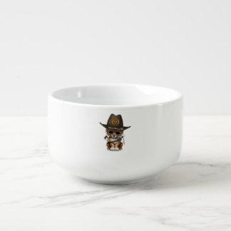 Cute Tiger Cub Zombie Hunter Soup Mug