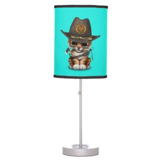 Cute Tiger Cub Zombie Hunter Table Lamp