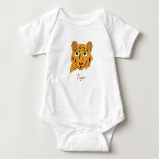 Cute Tiger Design Baby Bodysuit