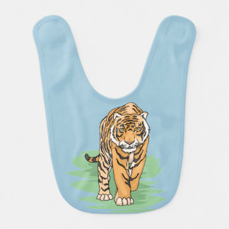 Cute tiger for kids 7a bib
