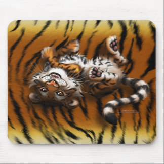Cute Tiger Mouse Pad