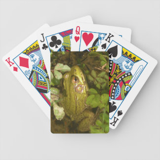 Cute Tiny Green Frog Playing Cards