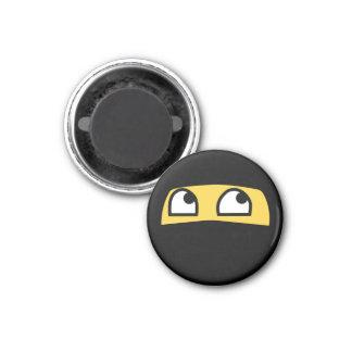 Cute & tiny ninja warrior emoji 1 inch round magnet