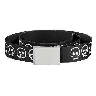 Cute Tiny Skulls Halloween Belt