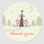 Cute Tipi Thank You Stickers
