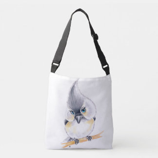 Cute Titmouse Art Crossbody Bag