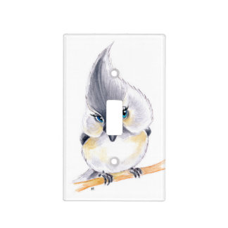 Cute Titmouse Art Light Switch Cover