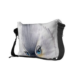 Cute Titmouse Art Messenger Bag
