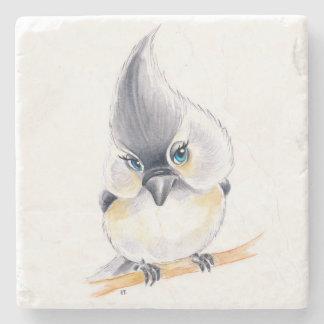Cute Titmouse Art Stone Coaster