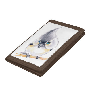 Cute Titmouse Art Trifold Wallet