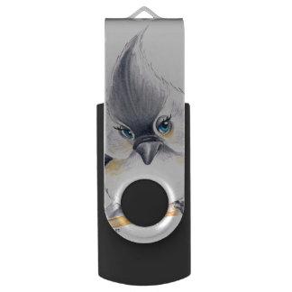 Cute Titmouse Art USB Flash Drive