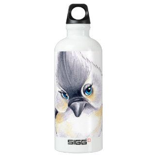 Cute Titmouse Art Water Bottle