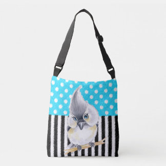 Cute Titmouse Polka Dot Crossbody Bag
