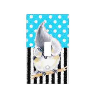 Cute Titmouse Polka Dot Light Switch Cover