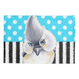 Cute Titmouse Polka Dot Pillowcase