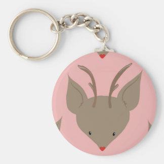Cute to reindeer keychain