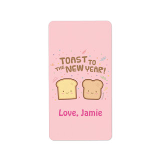 Cute Toast to the New Year Pun Humor Confetti