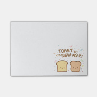 Cute Toast to the New Year Pun Humor Confetti Post-it Notes