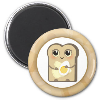 Cute Toasties - Butter and Egg 2 Inch Round Magnet