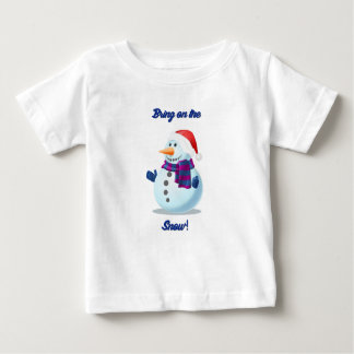 Cute Toddler Child Christmas Holiday Snowman Shirt