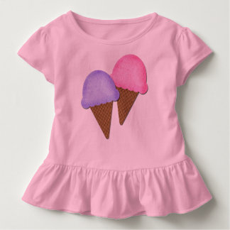 Cute Toddler Shirt Ice Cream Cones Girly Clothes