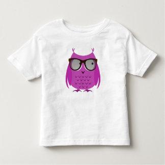 Cute Toddler Shirt, Pink Owl w/ Large Glasses! Toddler T-shirt