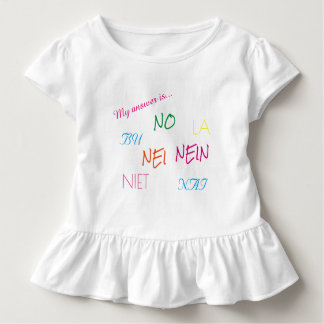 Cute Toddler Shirt with a statement