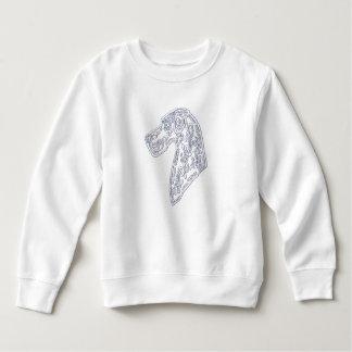 Cute Toddler Sweatshirt -  Sugar Skull Great Dane