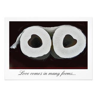Cute toilet paper wedding invite