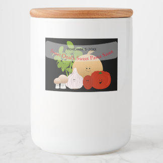 Cute Tomato Sauce Food Label