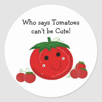 Cute Tomatoes Round Sticker