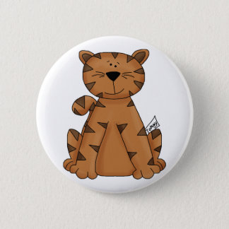 Cute Tommy Tiger 2 Inch Round Button